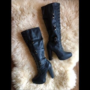 Bakers Knee High Platform Boots